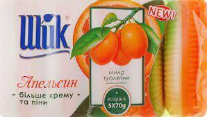 "Туалетне мило ""Шик"" Апельсин+Крем 70г.(5шт.)"