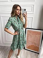 Платье софт с цветочным принтом женское (ПОШТУЧНО)