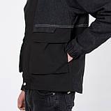 Чоловіча демісезонна куртка, комбінована, фото 3