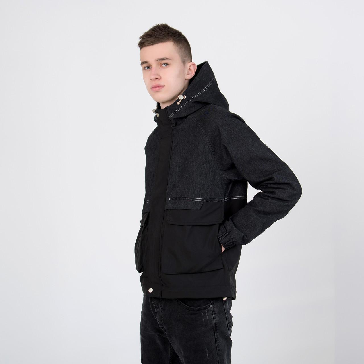 Чоловіча демісезонна куртка, комбінована