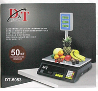 Scales DT-5053 50Kg Stand Dоmotec, Весы электронные торговые, Весы для продажи, Весы для торговли до 50 кг,