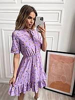 Сукня софт з квітковим принтом жіноча (ПОШТУЧНО), фото 1