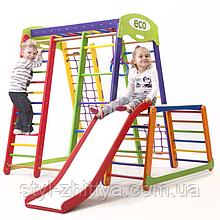 Домашній, дитячий, дерев'яна яний спортивний комплекс Koloryk Plus1-1
