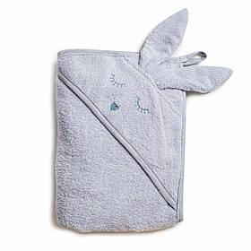 Полотенце Twins Rabbit 100*100 капюшон с ушками grey