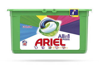 Капсулы для стирки Ariel Pods Все в 1 Color (40 шт)