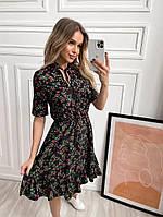 Платье софт с цветочным принтом женское (ПОШТУЧНО), фото 1