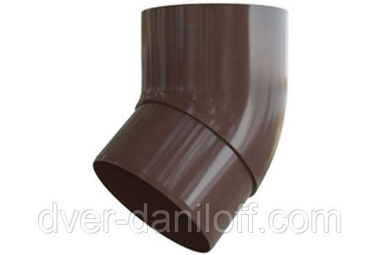 Колено трубы Альта-Профиль Элит 45 градусов 95 мм коричневый, фото 2