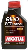 Синтетическое моторное масло Motul (Мотюль) 8100 Eco-nergy 5W-30 1л.