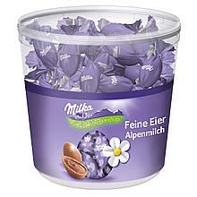 Шоколадні цукерки Milka Feine Eier у формі яєчка, відро 900 р.