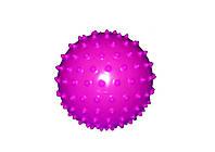Мяч массажный для фитнеса 23см BA-3402 (резинa, 150 гр, фиолетовый, синий, розовый