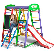 Домашній, дитячий, дерев'яна яний спортивний комплекс Koloryk Plus3
