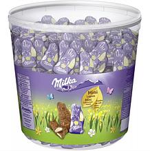 Шоколадні цукерки Milka Mini Lapins зайчики, відро 1.5 кг.