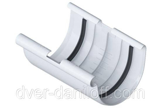Муфта желоба Альта-Профиль Элит 125 мм белый, фото 2