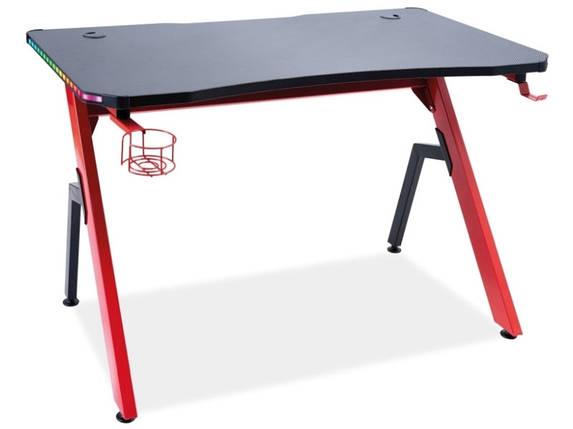Бюро/ письмовий стіл B-006 CZERWONY/CZARNY чорний/червоний, фото 2