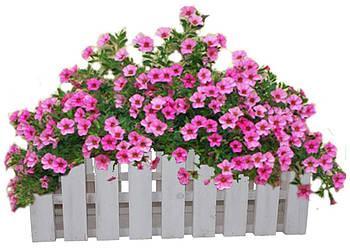 Кашпо Заборчик для цветов белый