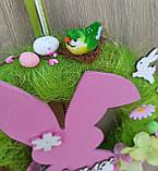 Пасхальний вінок на двері з великоднім зайцем (кроликом), фото 2