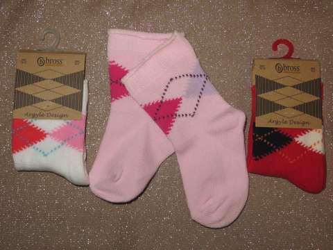 Набор 3 шт. Носки для грудничков демисезонные Bross из хлопка акционные