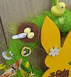 Пасхальний вінок на двері з зайчиком, фото 4
