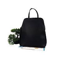 Модный женский рюкзак кожа черный Арт.02402 (VC) V.P. Італія, фото 1