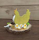 Пасхальна композиція зі свічкою та курочкою, пасхальний підсвічник, фото 4