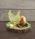Пасхальна композиція зі свічкою та курочкою, пасхальний підсвічник, фото 7