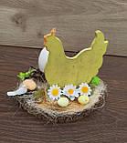 Пасхальна композиція зі свічкою та курочкою, пасхальний підсвічник, фото 8