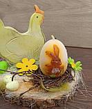 Пасхальна композиція зі свічкою та курочкою, пасхальний підсвічник, фото 5