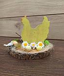 Пасхальна композиція зі свічкою та курочкою, пасхальний підсвічник, фото 9