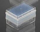 Наконечник для пипеточного дозатора тип Eppendorf, Brand,Socorex, нест. (200-1000 мкл), голуб. в штативе 96 шт