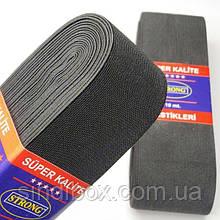 Резинка для одежды широкая STRONG 6см Черная (СТРОНГ-0518)