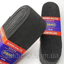 Резинка для одежды широкая STRONG 7см Черная (СТРОНГ-0527)