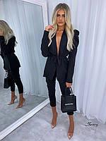 Женский Молодежный брючный костюм двойка пиджак +брюки черный беж .Новое поступление весна лето