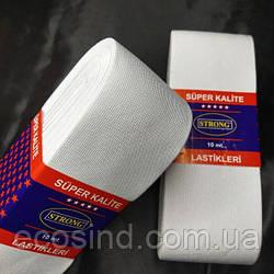 Резинка для одежды широкая STRONG 7см Белая (СТРОНГ-0526)