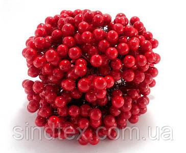 ОПТ Калина лаковая для рукоделия  Ø12мм, 400 ягодок Цвет - Красный (сп7нг-6043)