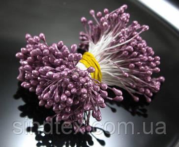Тычинки глянцевые 3400шт (1700 двухстор. ниток) 3х5мм головка, Лилово-сиреневые тычинки (сп7нг-6033)