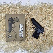 Игрушечный спринговый металлический пистолет Макарова на пульках / Пистолет ZM02