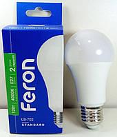 Светодиодная лампа Feron LB-702 А60 230v 12w E27 4000K (аналог 120w лампы накаливания)