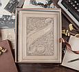 """Родовід книга в шкіряній палітурці з об'ємним тисненням на кільцевому механізмі """"Манускрипт"""", фото 4"""