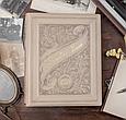 """Родовід книга в шкіряній палітурці з об'ємним тисненням на кільцевому механізмі """"Манускрипт"""", фото 2"""