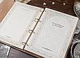 """Родовід книга в шкіряній палітурці з об'ємним тисненням на кільцевому механізмі """"Манускрипт"""", фото 8"""