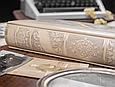 """Родовід книга в шкіряній палітурці з об'ємним тисненням на кільцевому механізмі """"Манускрипт"""", фото 6"""