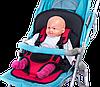 Бескаркасное детское автокресло   кресло для ребенка в машину   детское автомобильное кресло красное, фото 3