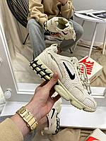 Женские кроссовки Nike x Stussy Air Zoom Fossil, фото 1
