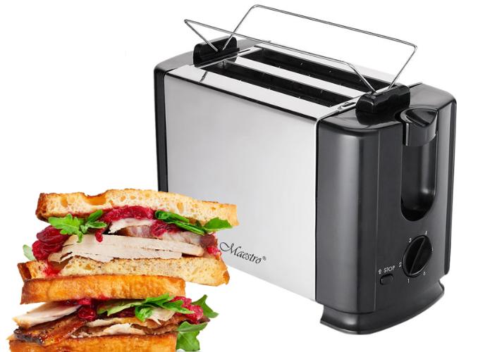 Тостер Maestro MR-701 (700 Вт, зйомний піддон для крихт, кнопка відміни) | тостер Маестро, тостерница Маестро
