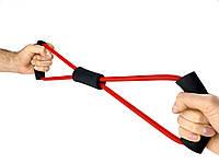 Эспандер трубчатый Восьмерка, джгут трубчатый (латекс, d-6 x 10мм, l-100см)