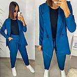 Модный костюм женский с жакетом и штанами, фото 2