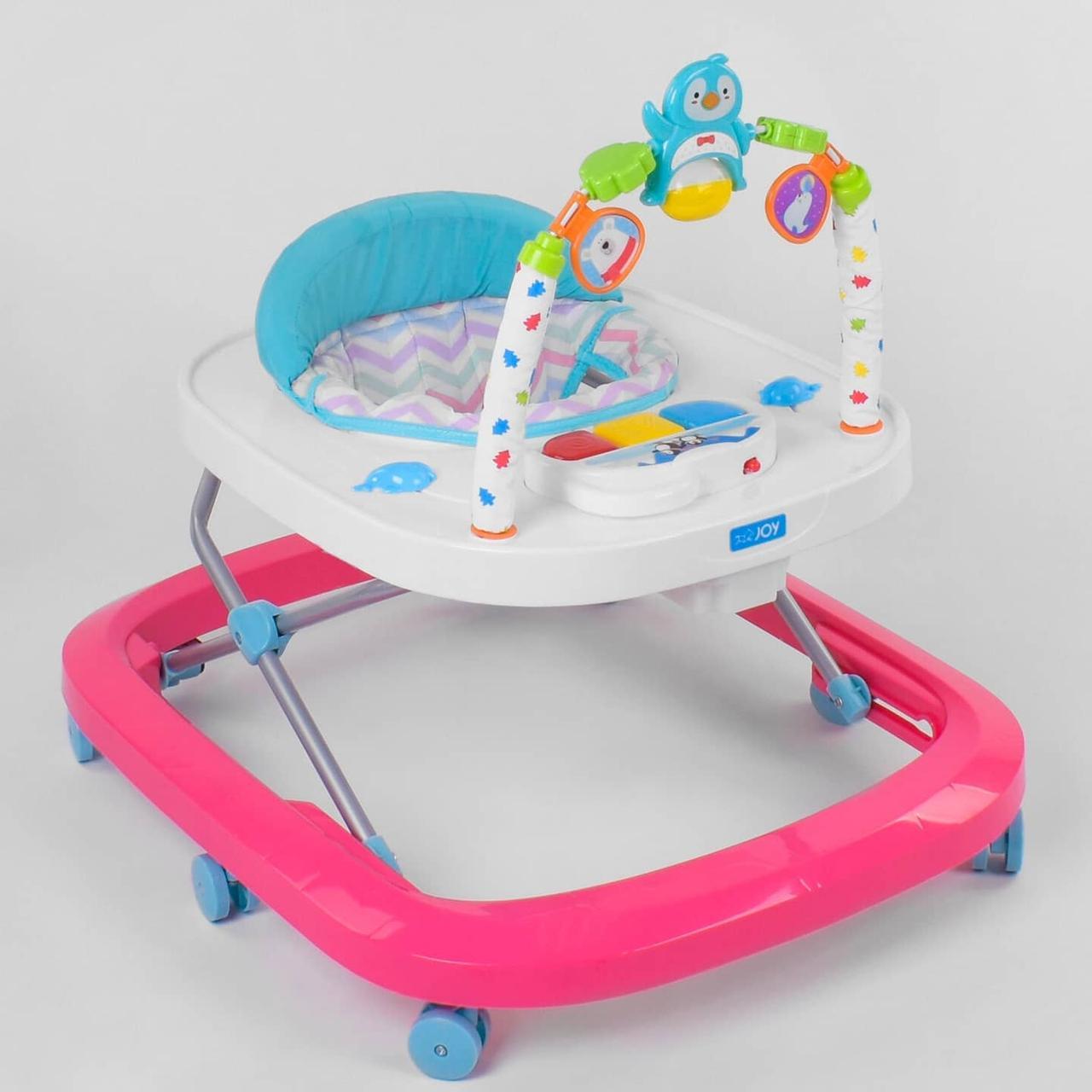 Детские ходунки розовые музыкальные JOY 60511