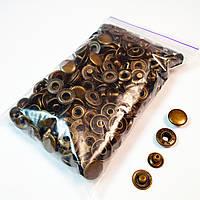 Швейная фурнитура кнопки для одежды Alfa 15мм Антик (100шт) (Турция). Кнопки для курток