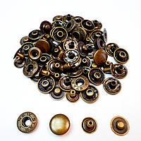 Швейна фурнітура кнопки для одягу Alfa 15мм Антик (720шт) (Туреччина). Кнопки для курток
