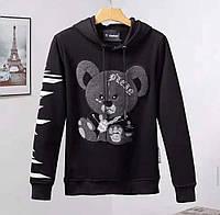 Батник Philipp Plein Bear bw black
